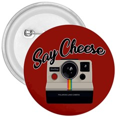 Say Cheese 3  Buttons by Valentinaart