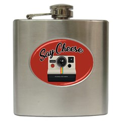 Say Cheese Hip Flask (6 Oz) by Valentinaart