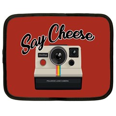 Say Cheese Netbook Case (Large) by Valentinaart
