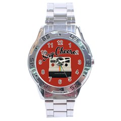 Say Cheese Stainless Steel Analogue Watch by Valentinaart
