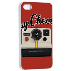 Say Cheese Apple Iphone 4/4s Seamless Case (white) by Valentinaart