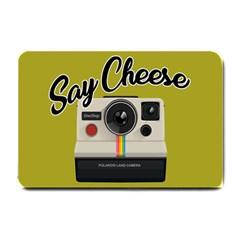 Say Cheese Small Doormat  by Valentinaart