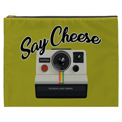 Say Cheese Cosmetic Bag (xxxl)  by Valentinaart