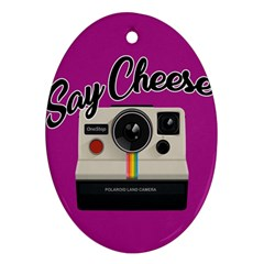 Say Cheese Ornament (oval) by Valentinaart