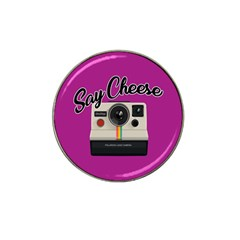 Say Cheese Hat Clip Ball Marker (4 Pack) by Valentinaart