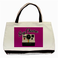 Say Cheese Basic Tote Bag by Valentinaart