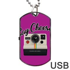 Say Cheese Dog Tag Usb Flash (one Side) by Valentinaart