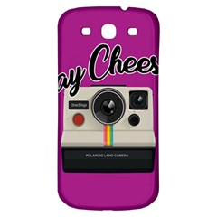 Say Cheese Samsung Galaxy S3 S Iii Classic Hardshell Back Case by Valentinaart