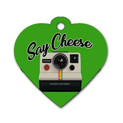 Say Cheese Dog Tag Heart (one Side) by Valentinaart