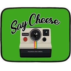 Say Cheese Fleece Blanket (mini) by Valentinaart