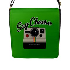 Say Cheese Flap Messenger Bag (l)  by Valentinaart