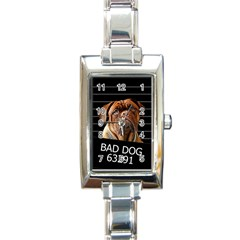 Bed Dog Rectangle Italian Charm Watch by Valentinaart