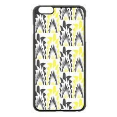 Tricolored Geometric Pattern Apple Iphone 6 Plus/6s Plus Black Enamel Case by linceazul