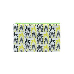 Tricolored Geometric Pattern Cosmetic Bag (xs) by linceazul