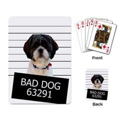 Bad Dog Playing Card by Valentinaart