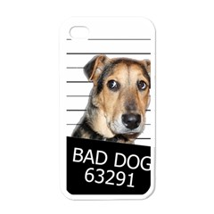 Bad Dog Apple Iphone 4 Case (white) by Valentinaart