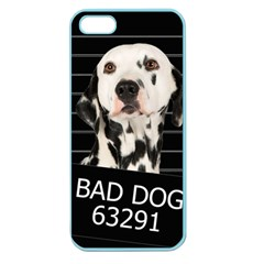 Bad Dog Apple Seamless Iphone 5 Case (color) by Valentinaart