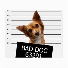 Bad Dog Small Glasses Cloth (2 Side) by Valentinaart