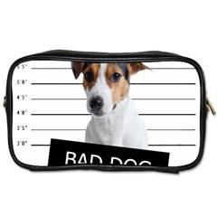 Bad Dog Toiletries Bags by Valentinaart