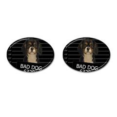Bad Dog Cufflinks (oval) by Valentinaart