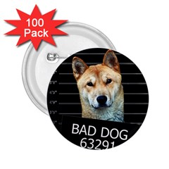 Bad Dog 2 25  Buttons (100 Pack)  by Valentinaart