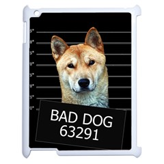 Bad Dog Apple Ipad 2 Case (white) by Valentinaart