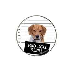 Bad Dog Hat Clip Ball Marker by Valentinaart