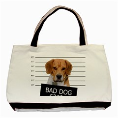 Bad Dog Basic Tote Bag (two Sides) by Valentinaart