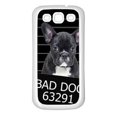 Bad Dog Samsung Galaxy S3 Back Case (white) by Valentinaart
