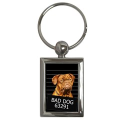 Bad Dog Key Chains (rectangle)  by Valentinaart