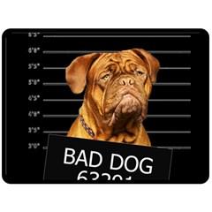 Bad Dog Fleece Blanket (large)  by Valentinaart