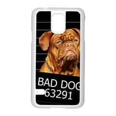 Bad Dog Samsung Galaxy S5 Case (white) by Valentinaart