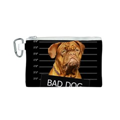 Bad Dog Canvas Cosmetic Bag (s) by Valentinaart
