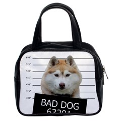 Bad Dog Classic Handbags (2 Sides) by Valentinaart