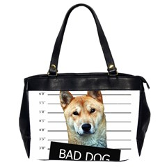 Bad Dog Office Handbags (2 Sides)  by Valentinaart
