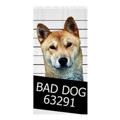 Bad Dog Shower Curtain 36  X 72  (stall)  by Valentinaart