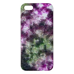 Purple Green Paint Texture    Apple Ipod Touch 5 Hardshell Case With Stand by LalyLauraFLM