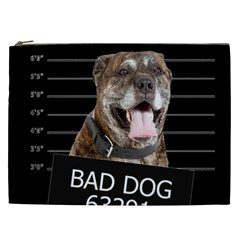 Bad Dog Cosmetic Bag (xxl)  by Valentinaart