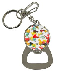 Colorful Paint Stokes           Bottle Opener Key Chain by LalyLauraFLM