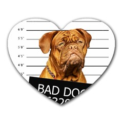 Bad Dog Heart Mousepads by Valentinaart