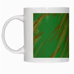 Brown Green Texture             White Mug by LalyLauraFLM