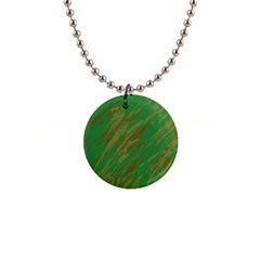 Brown Green Texture             1  Button Necklace by LalyLauraFLM