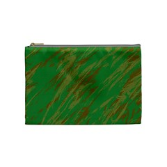 Brown Green Texture             Cosmetic Bag by LalyLauraFLM