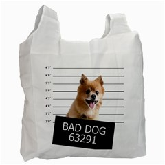 Bad Dog Recycle Bag (one Side) by Valentinaart