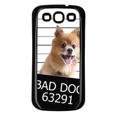Bad Dog Samsung Galaxy S3 Back Case (black) by Valentinaart