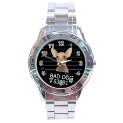 Bad Dog Stainless Steel Analogue Watch by Valentinaart