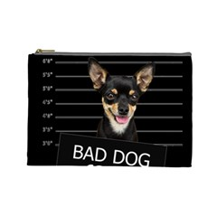 Bad Dog Cosmetic Bag (large)  by Valentinaart