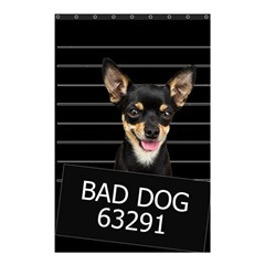 Bad Dog Shower Curtain 48  X 72  (small)  by Valentinaart