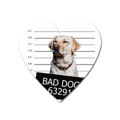 Bad Dog Heart Magnet by Valentinaart
