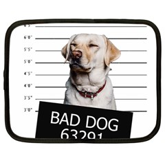 Bad Dog Netbook Case (large) by Valentinaart